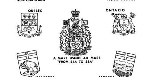 Canada Coat Of Arms, Canadian Provence Coat