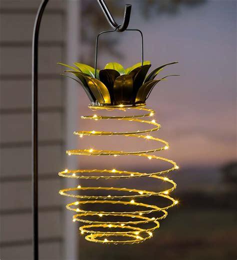 hanging solar lantern decoration pineapple solar accents