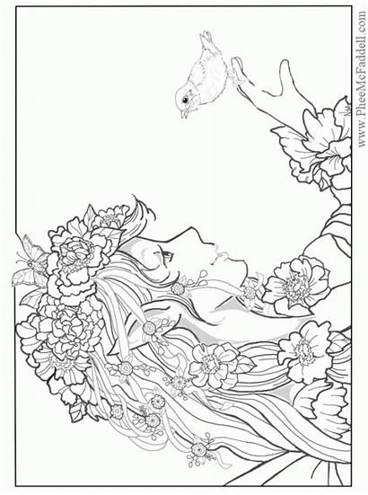 Coloring Pages Adults Fantasy Detailed Printable Agj