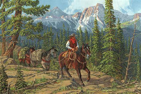 mountain traveler painting  randy follis