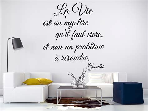 sticker citation la vie est  mystere gandhi stickers