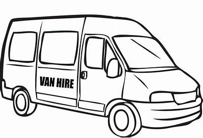 Van Coloring Police Pages Drawing Minivan Colouring