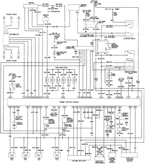 1994 Corolla Wiring Diagram by 1994 Toyota Corolla Ecu Wiring Diagram Periodic