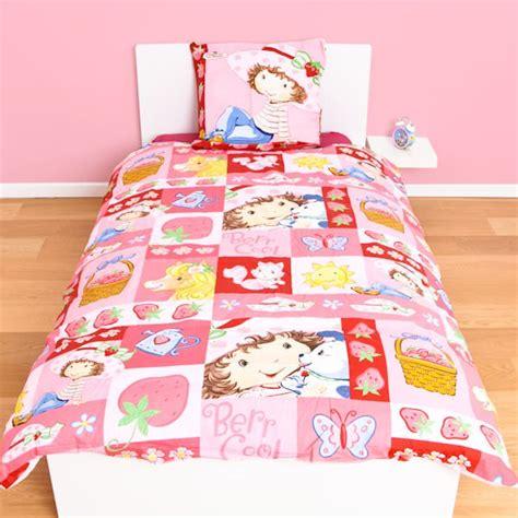 housse de couette aux fraises 140 x 200 cm parure de lit decokids