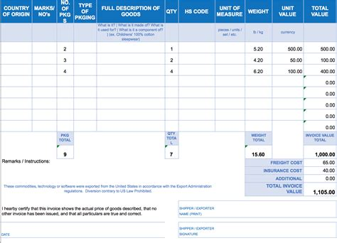 Excel Invoice Template  Invoice Example