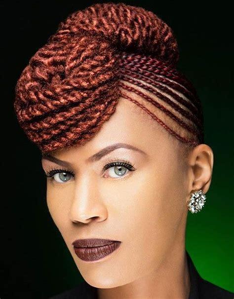 40 ginger cornrows double bouffant black women hair