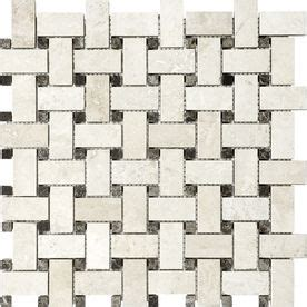 Thinset For Mosaic Tile by Ivory Travertine Mosaic Basketweave Indoor