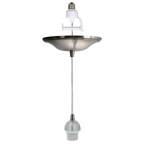worth home products brushed nickel instant light pendant