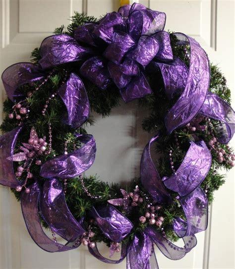 purple wreath miniature holidays pinterest