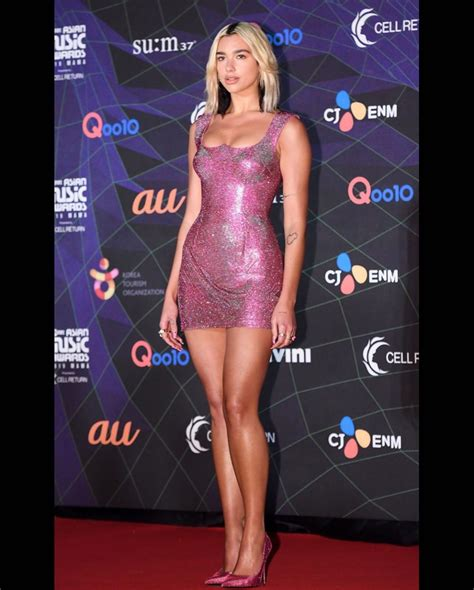 Dua Lipa looks incredibly glamorous as she attends Mnet ...
