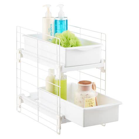 under cabinet storage containers under sink organizers bathroom cabinet storage