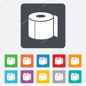 Toilet paper sign icon. WC roll symbol. — Stockvector ...