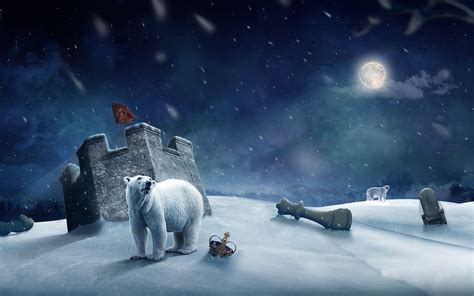Polar Bear Christmas Wallpaper