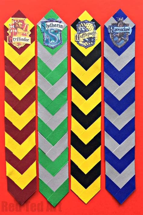 harry potter house colors easy harry potter bookmarks harry potter house colors