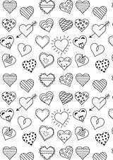 Coloring Heart Printable Paper Valentine A4 Freebie Ausdruckbare sketch template