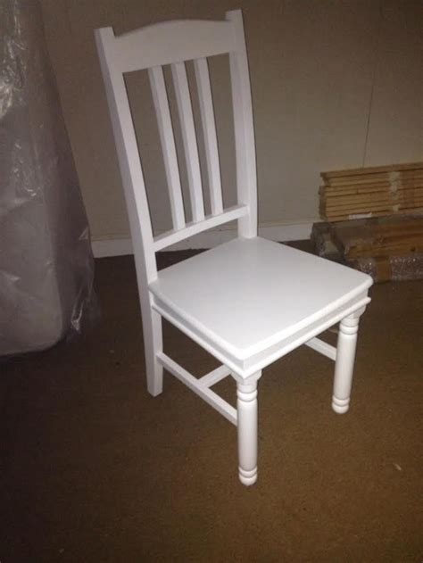 sale item white painted dining chair