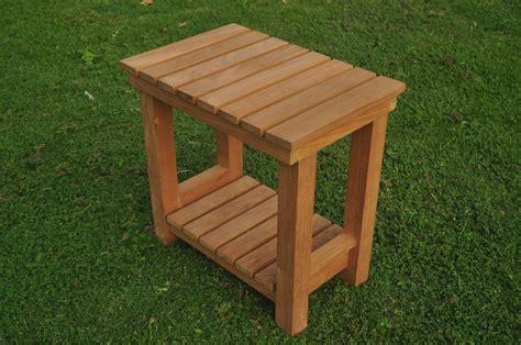 teak wood busselton shower bath pool bench  shelf
