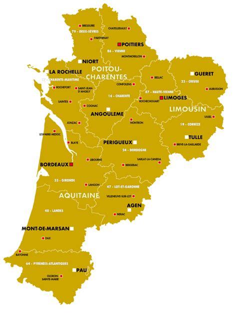 Nouvelle Carte De Region Et Departement by Carte De La Nouvelle Aquitaine Nouvelle Aquitaine Cartes