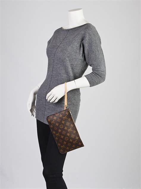 louis vuitton monogram canvas neverfull pochette zippered