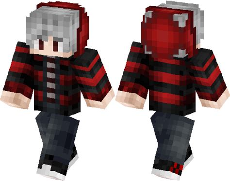 red boy  mcpe minecraft skin minecraft hub