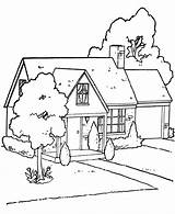 Coloring Pages Tree Printable Magic Houses Adults Garden sketch template