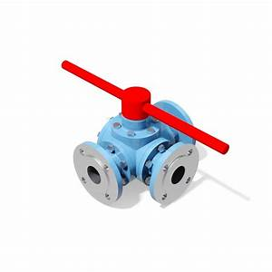 3 Way Manual Ball Valve - Din Standard Flanged Ends