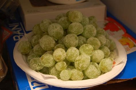 Frozen Grapes With Jello Mix That Taste Like Sourpatch