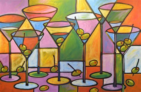 Paintings For Dining Room by Original Abstract Martini Bar Restaurant Decor Martini