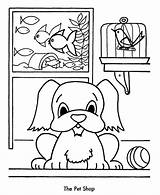 Coloring Pages Shopping Pet Christmas Sheet Sheets Pets Animals Preschool Children Kleurplaat Honkingdonkey Holiday Popular Crafts Animal Coloringhome sketch template