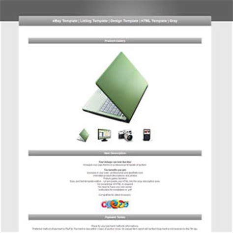 ebay html template ebay template listing template design template html template gray ebay