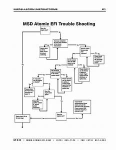 Msd Atomic Efi Trouble Shooting  Installation Instructions