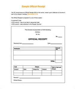 Sample Payment Receipt Template