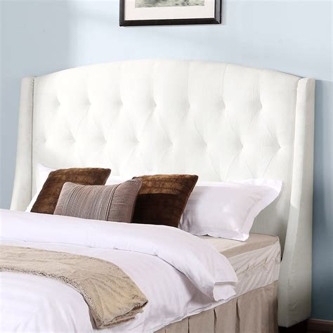 tufted wingback headboard dorel asia tufted wingback headboard oyster