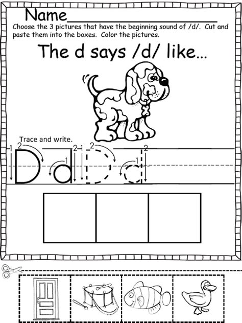 beginning sounds color cut and paste repinned by totetude printables pinterest