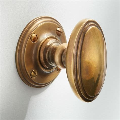 edwardian door knobs antique satin brass broughtons