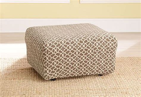 thoughts  patterned ottoman slipcover   plain