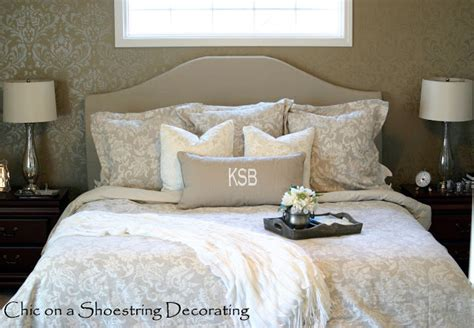 Diy Master Bedroom Decorating Ideas by Chic On A Shoestring Decorating Neutral Master Bedroom Reveal