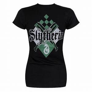 Vetement Harry Potter Femme : tee shirt femme harry potter serpentard avec manches ~ Melissatoandfro.com Idées de Décoration