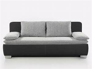 Schlafsofa Schwarz : schlafsofa couch duana 202x96cm hellgrau schwarz ~ Pilothousefishingboats.com Haus und Dekorationen