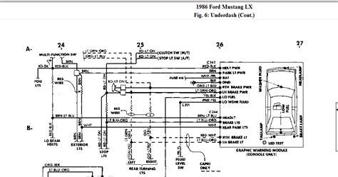 Brake Warning Light Switch Diagram by Brake Lights On My 1986 Mustang Lx The Brake Switch Tests Ok
