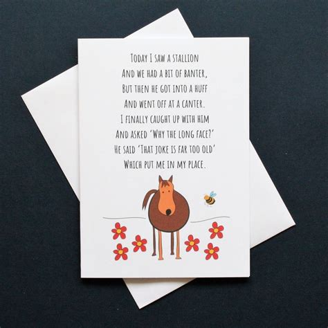 horse poems poem funny card banter horses animal stallion face animals quotes riding cards envelopes sayings