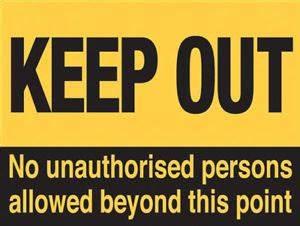 Keep Out Metal Sign Warning Kid Bedroom Door Hazard   eBay