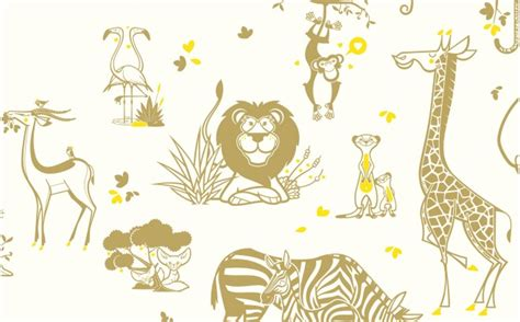 Wallpaper With Animals For Rooms - safari animals wallpaper room wall murals