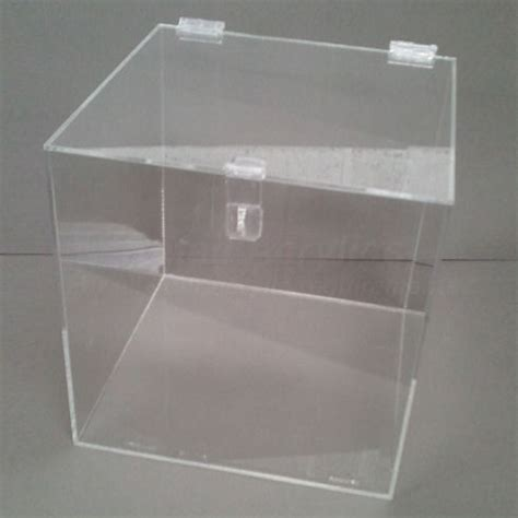cm lockable clear acrylic display box    padlock