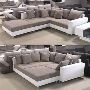 Sofaüberwurf Für Xxl Sofa : wohnlandschaft claudia ecksofa couch xxl sofa mit ottomane und hocker ebay ~ Bigdaddyawards.com Haus und Dekorationen
