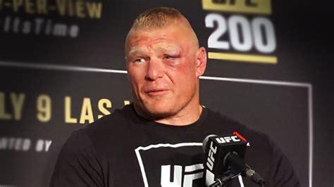 brock lesnar  ufc  post fight press conference  ring
