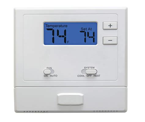 2 stage heat air conditioner non programmable thermostat for homes