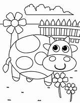 Coloring Spring Springtime Flower Pages Themed Sheets Cow Printable Getcolorings sketch template