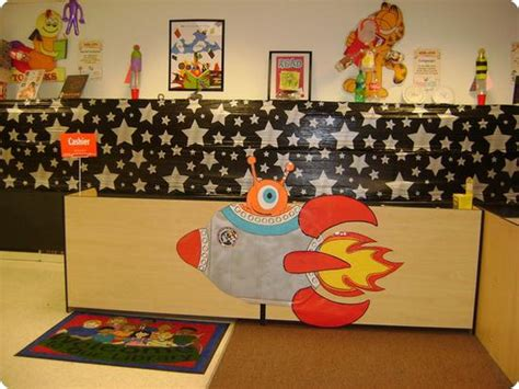 Product Of The Week A Beautiful Space Themed Set Made Of Wood Magnets by Out Of This World Space Themed Displays Supplyme
