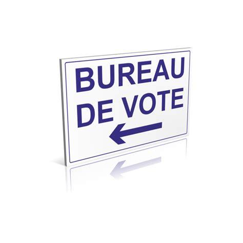 panneau bureau de vote flèche à gauche signalétique pour